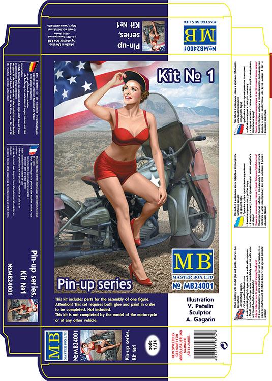 MASTER BOX 1/24 Pin-up series, Kit No. 1. Marylin