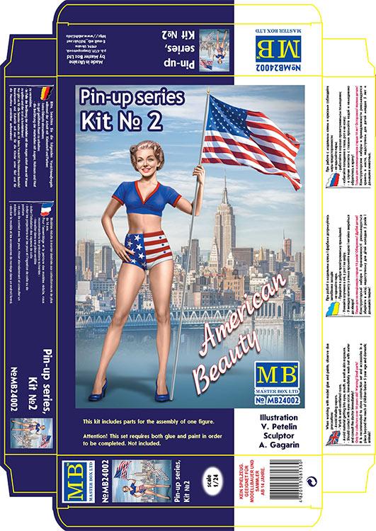MASTER BOX 1/24 Pin-up series, Kit No. 2. Betty