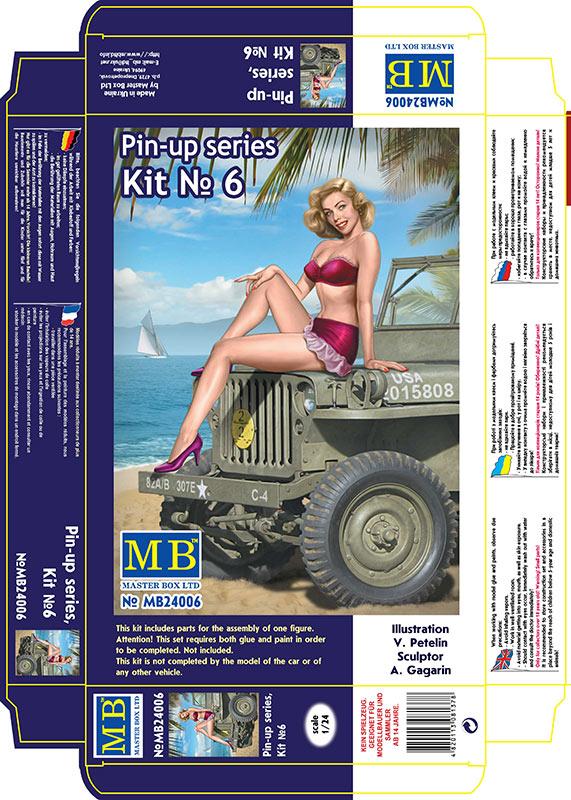 MASTER BOX 1/24 Pin-up series, Kit No. 6. Samantha