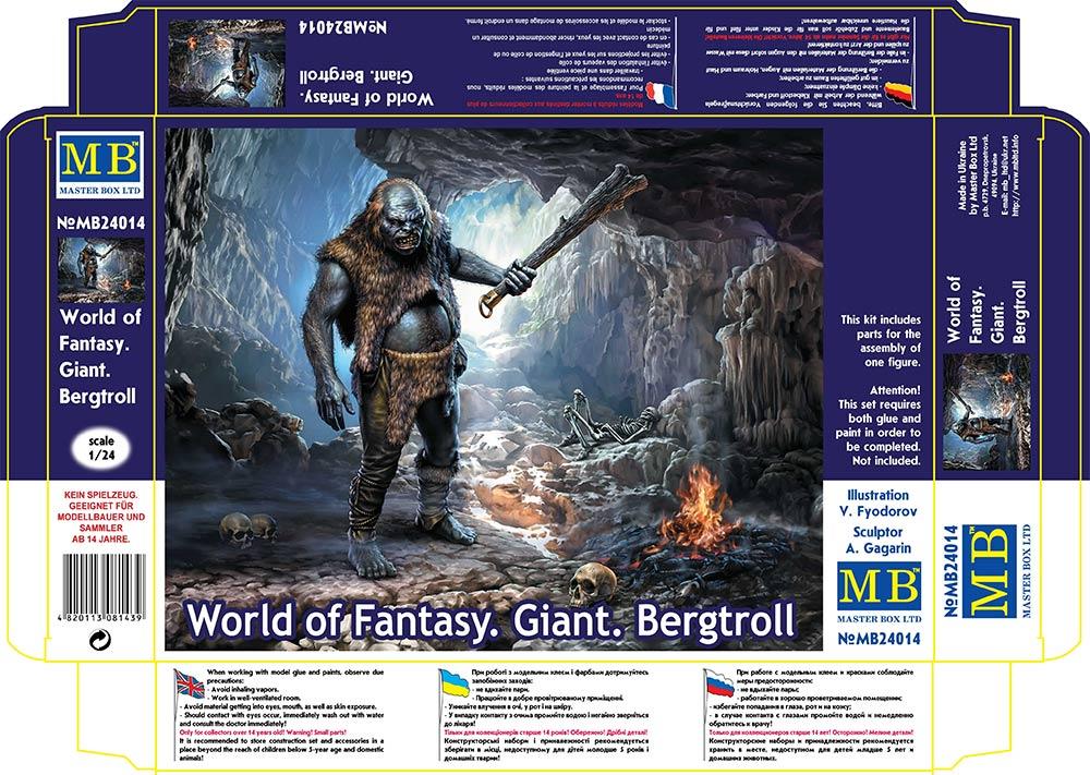 MASTER BOX 1/24 World of Fantasy. Giant. Bergtroll
