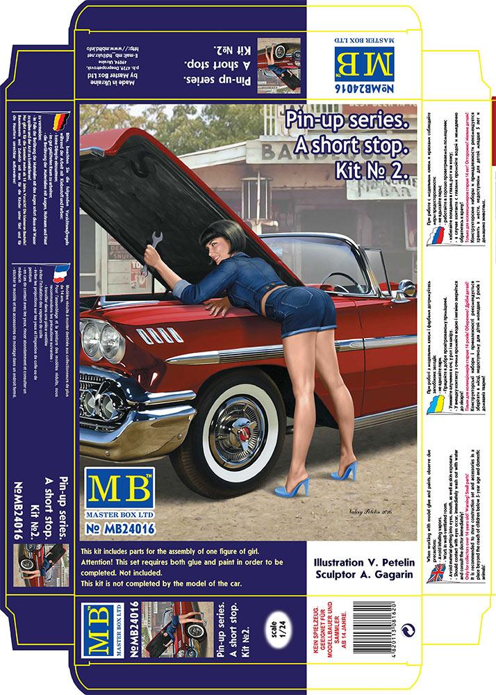 MASTER BOX 1/24 Pin-up series. A short stop. Kit No. 2