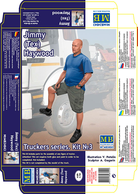 MASTER BOX 1/24 Truckers series. Jimmy (Tex) Haywood.
