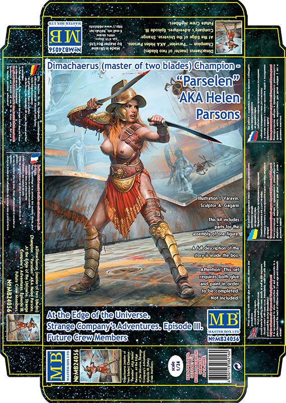 "MASTER BOX Dimachaerus (master of two blades) Champion ""Parselen"" AKA Helen Parsons. At the Edge of the Universe. Strange Company's Adventures. Episode III. Future Crew Members"
