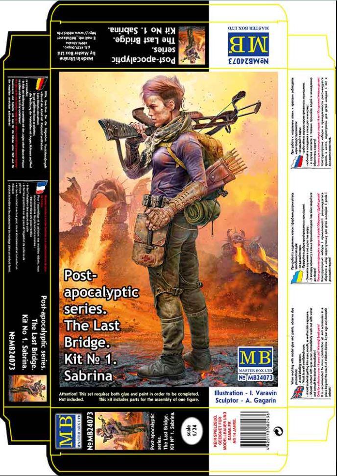 Master Box 1/24 Post-apocalyptic series. The Last Bridge. Kit No. 1. Sabrina