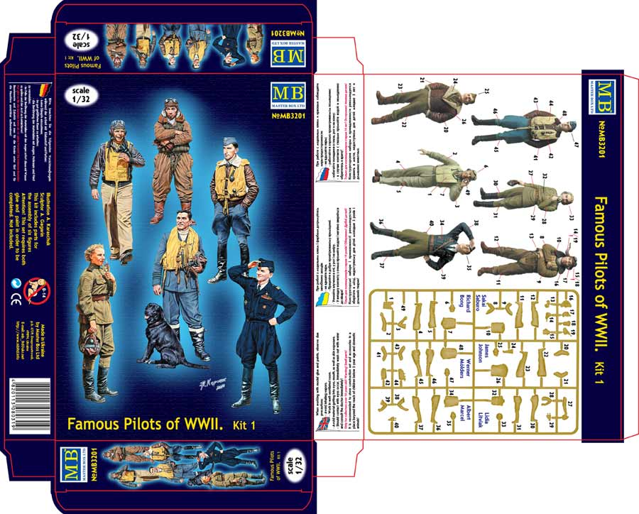 MASTER BOX Series Famous pilots of WWII era, kit No.1