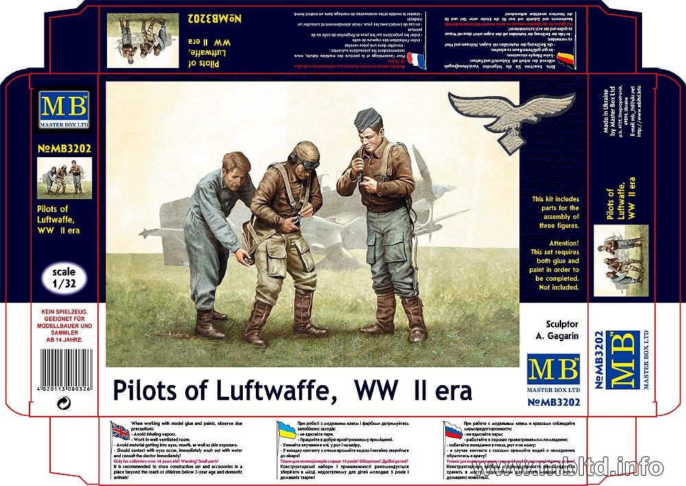 MASTER BOX Pilots of Luftwaffe, WW II era