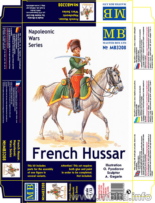 MASTER BOX French Hussar, Napoleonic Wars era