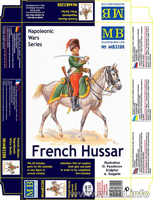 MASTER BOX 1/32 French Hussar, Napoleonic Wars era