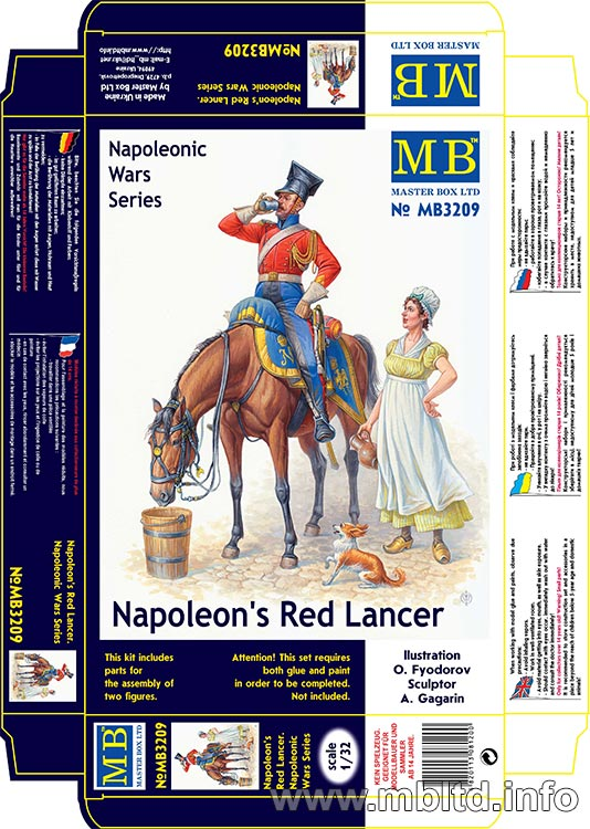 MASTER BOX Napoleon's Red Lancer, Napoleonic Wars Series