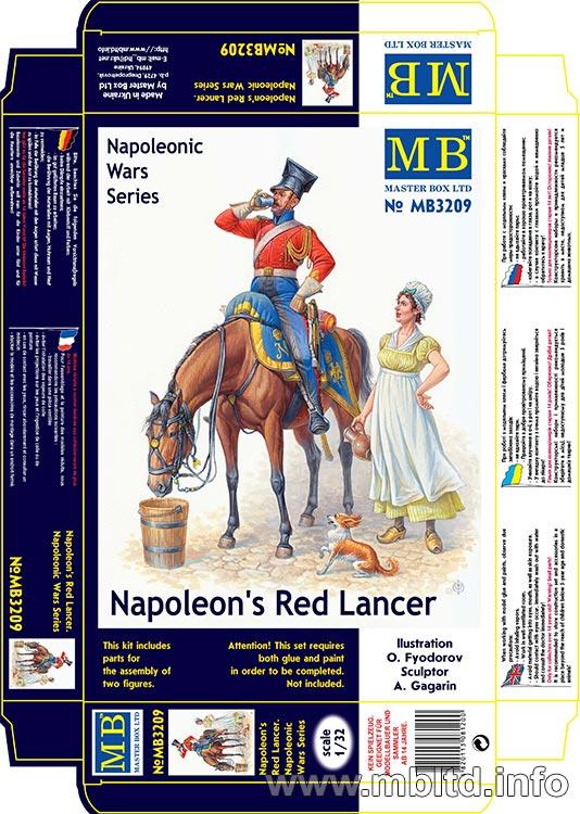 MASTER BOX 1/32 Napoleon's Red Lancer, Napoleonic Wars Series