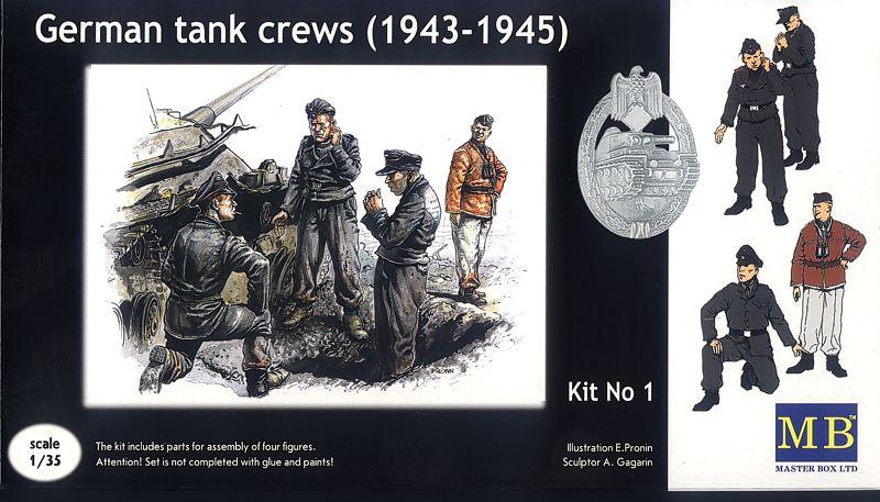 MASTER BOX 1/35 German tank crew (1943-1945) Kit No1