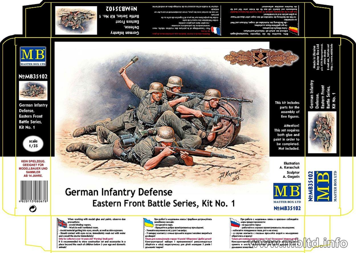 MASTER BOX 1/35 German Infantry Defense, Eastern Front Battle Series, Kit No.1