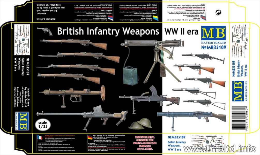 MASTER BOX 1/35 British Infantry Weapons, WW II era