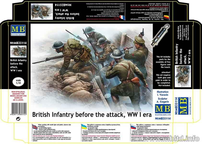 MASTER BOX 1/35 British Infantry before the attack, WWI era