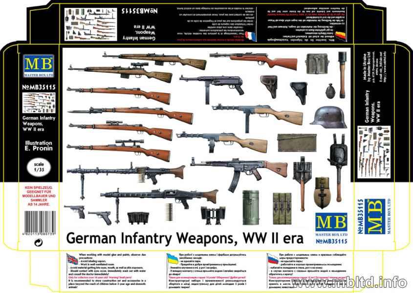MASTER BOX 1/35 German Infantry Weapons, WW II era
