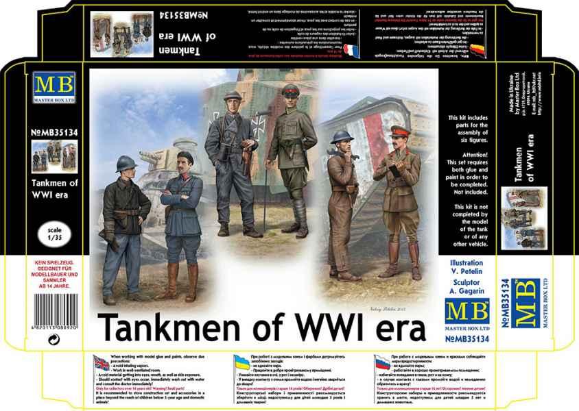 MASTER BOX 1/35 Tankmen of WWI era