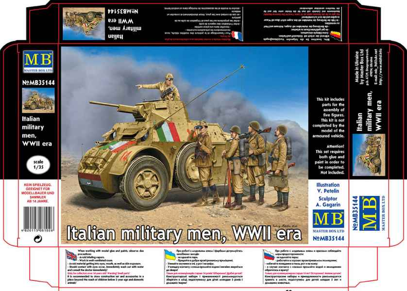 MASTER BOX 1/35 Italian military men, WWII era