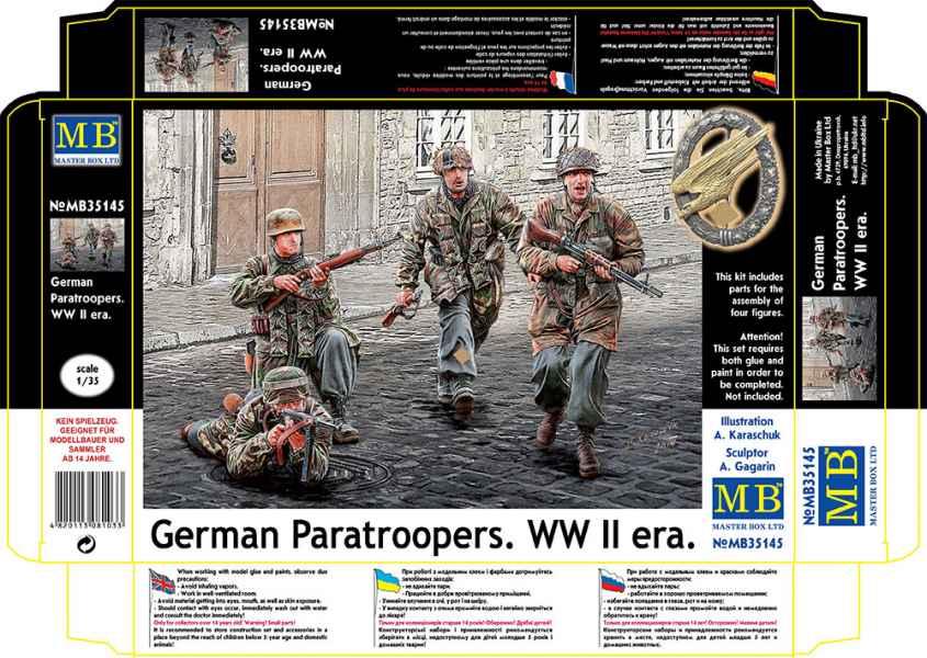 MASTER BOX 1/35 German Paratroopers. WW II era