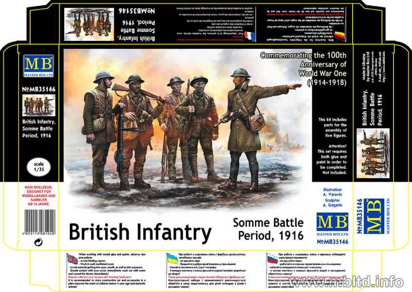MASTER BOX 1/35 British Infantry, Somme Battle Period, 1916