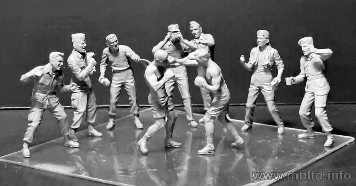 MASTER BOX 1/35 Friendly boxing match. British and American paratroopers, WW II era