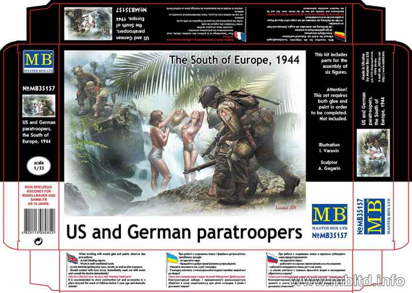 MASTER BOX US and German paratroopers, the South of Europe, 1944