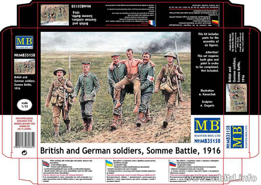 MASTER BOX 1/35 British and German soldiers, Somme Battle, 1916