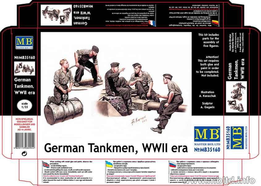 MASTER BOX German Tankmen, WWII era