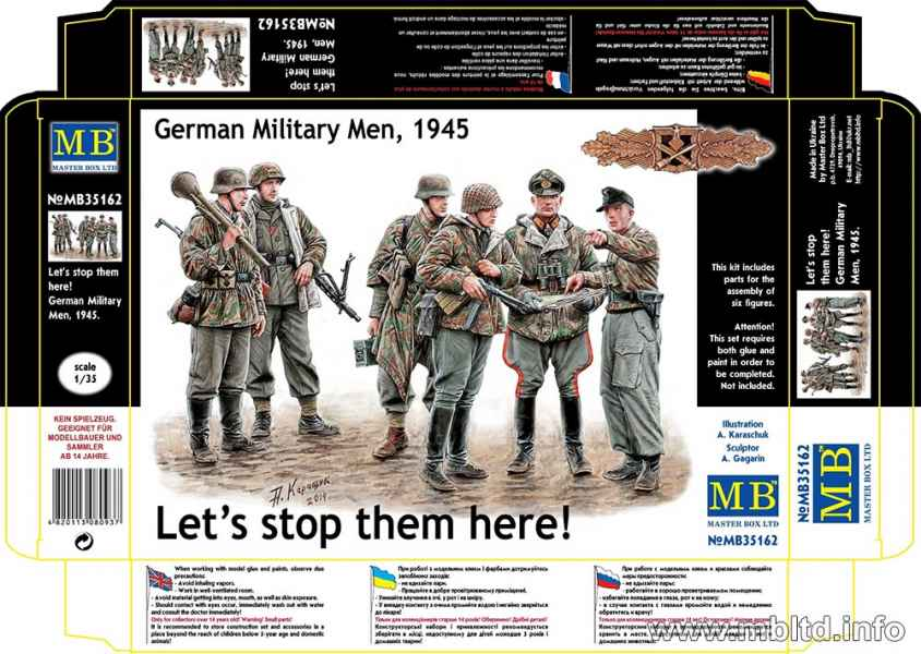 MASTER BOX Let's stop them here! German Military Men, 1945