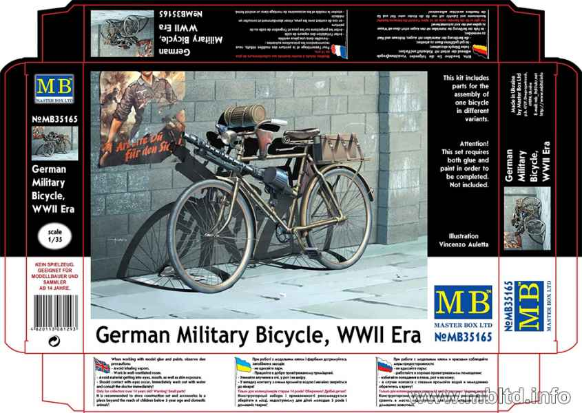 MASTER BOX German Military Bicycle, WWII Era