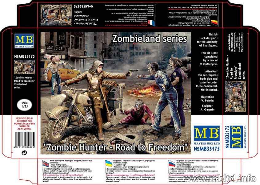 MASTER BOX Zombie Hunter - Road to Freedom, Zombieland series