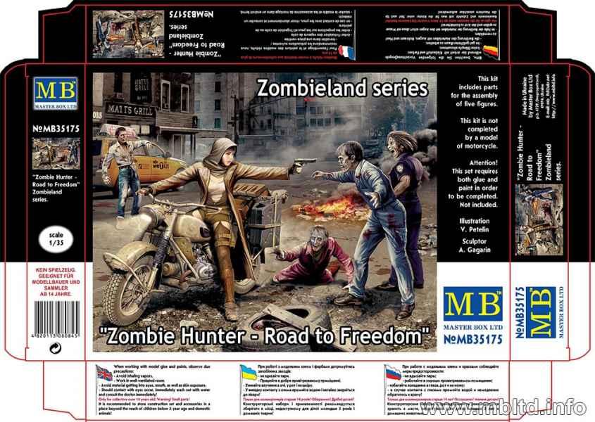 MASTER BOX 1/35 Zombie Hunter - Road to Freedom, Zombieland series