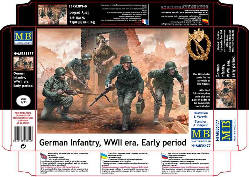 MASTER BOX 1/35 German Infantry, WWII era. Early period