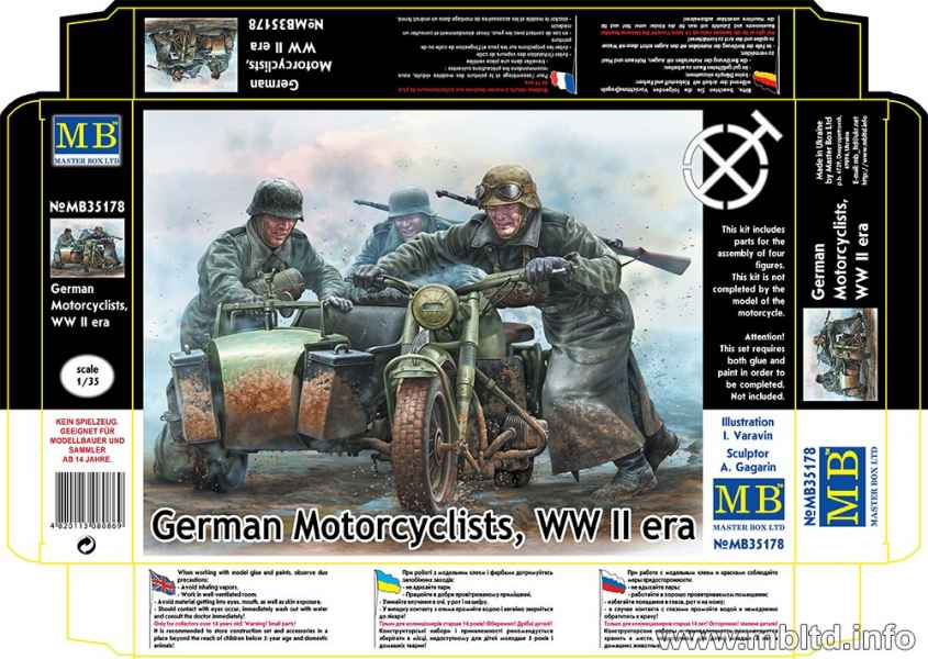 MASTER BOX German Motorcyclists, WWII era