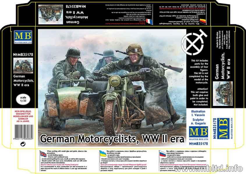 MASTER BOX 1/35 German Motorcyclists, WWII era