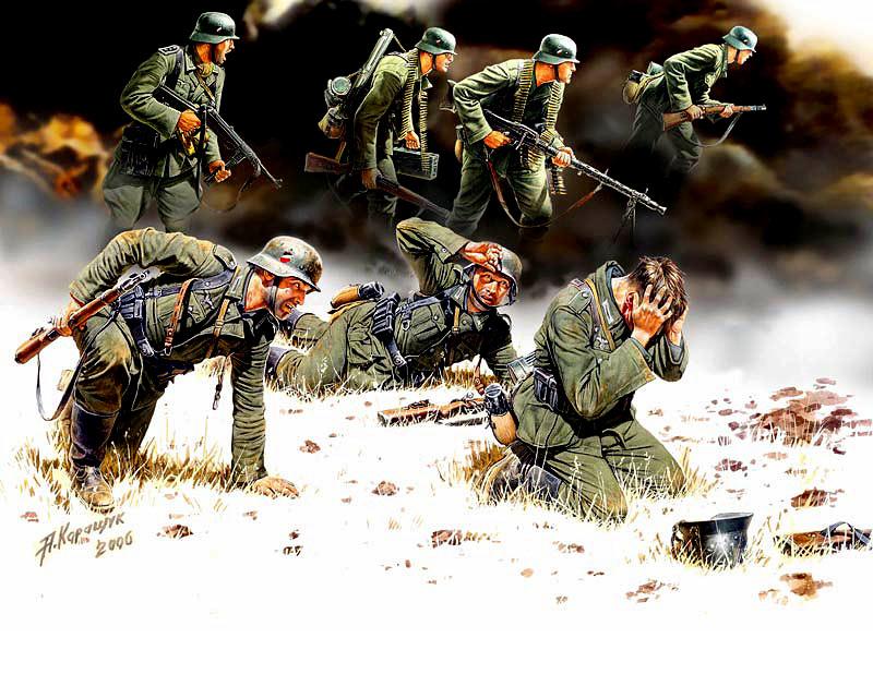 MASTER BOX 1/35 German Panzergrenadiers, 7 fig.