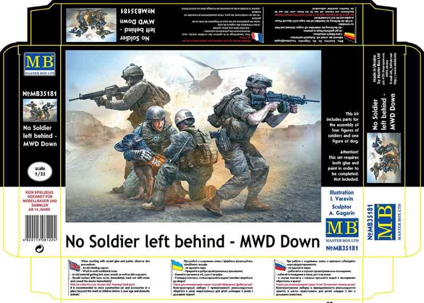 MASTER BOX 1/35 No Soldier left behind - MWD Down