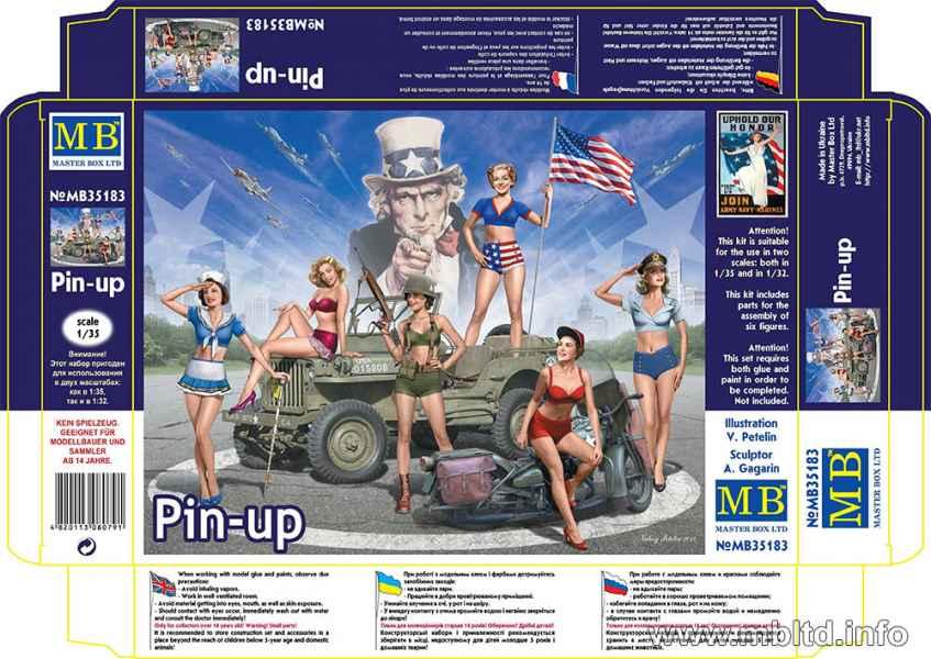 MASTER BOX 1/35 Pin-up