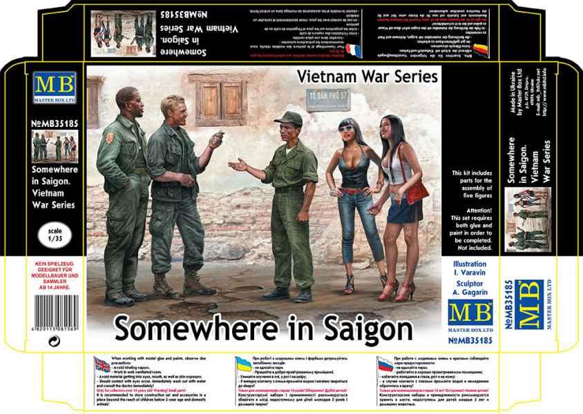 MASTER BOX 1/35 Somewhere in Saigon, Vietnam War Series