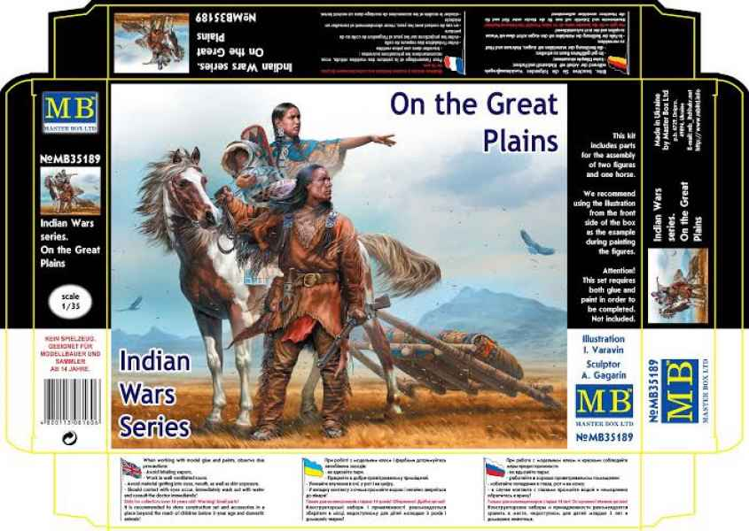 MASTER BOX Indian Wars Series. On the Great Plains