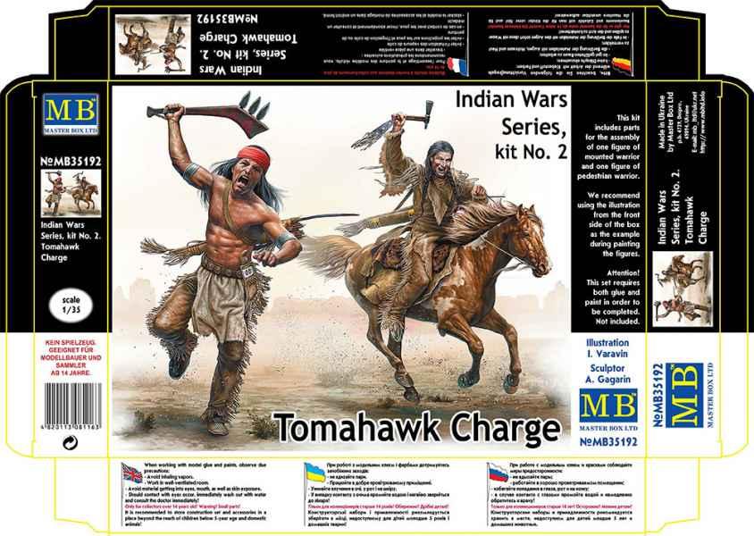 MASTER BOX Indian Wars Series, kit No. 2. Tomahawk Charge