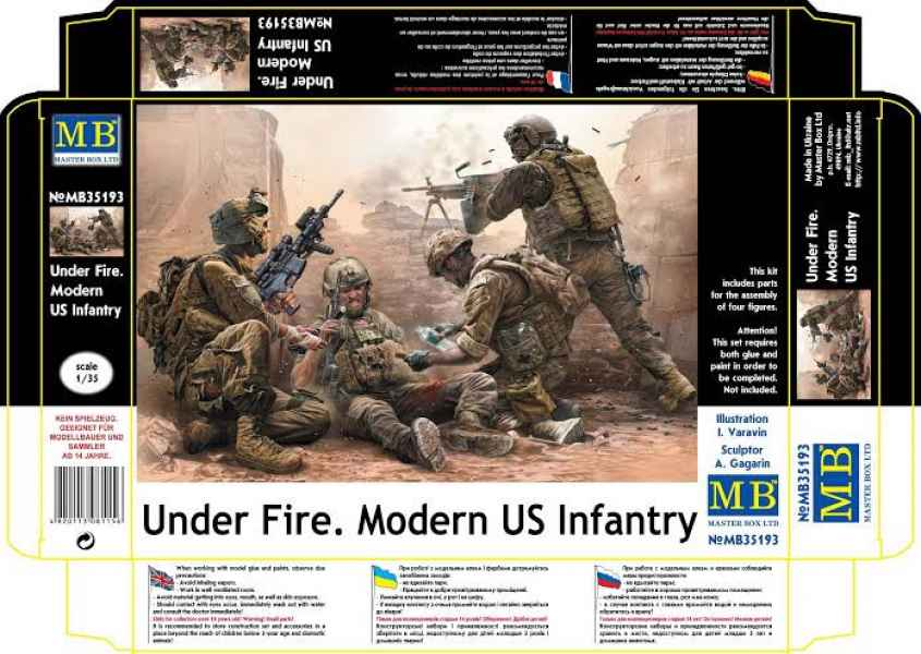 MASTER BOX Under Fire. Modern US Infantry