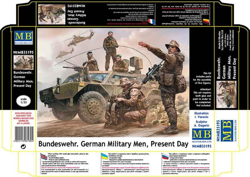 MASTER BOX Bundeswehr. German Military Men, Present Day
