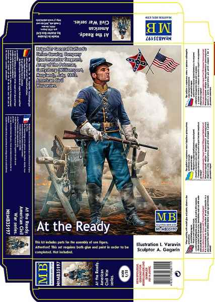 MASTER BOX 1/35 At the Ready. Brigadier General Bufford's Union Cavalry, Company Quartermaster Sergeant, Army of the Potomac, Gettysburg (Williamsport, Maryland), July, 1863. American Civil War series