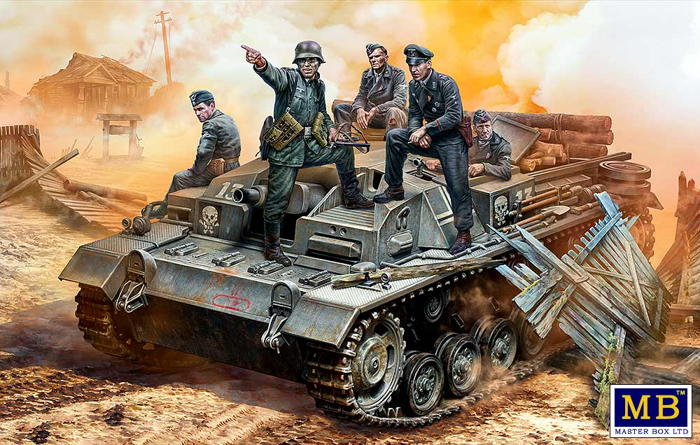 "MASTER BOX German StuG III Crew, WW II era. ""Their position is behind that forest!"""