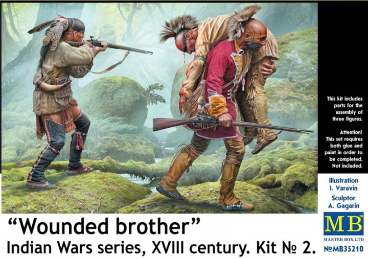 "MASTER BOX ""Wounded brother"". Indian Wars series, XVIII century. Kit No. 2"