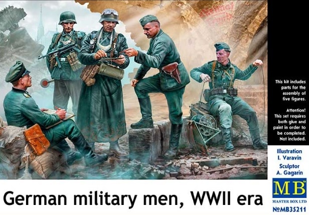 """MASTER BOX """"German military men, WWII era"""""""