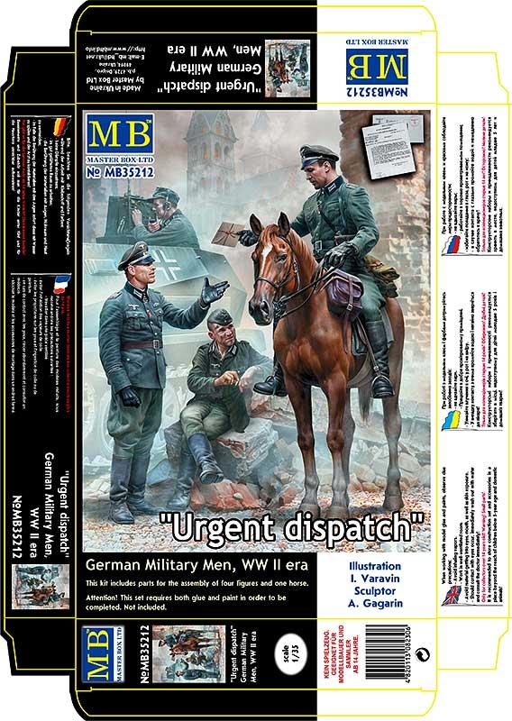MASTER BOX Urgent Dispatch. German Military Men, WW II era