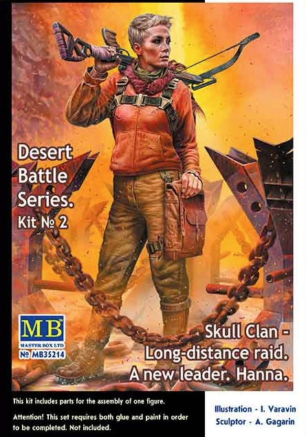 MASTER BOX Post-apocalyptic fiction. Desert Battle Series. Skull Clan – Long-distance raid. Kit No2. A new leader. Hanna