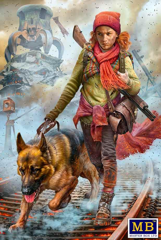 MASTER BOX 1/35 Post-apocalyptic fiction. Desert Battle Series. Skull Clan Long-distance raid. Kit No.3. Where am I? Splinter