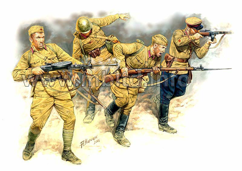 MASTER BOX 1/35 Eastern Front Series. Kit No 2. Soviet Infantry in action, 1941-1942